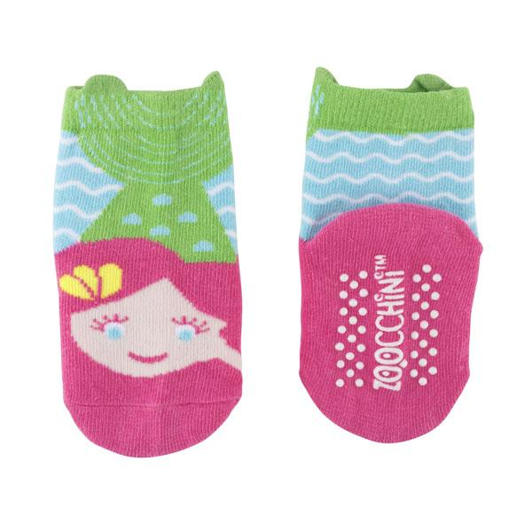 BABY BOY COTTON TERRY ANTI SLIP CRAWLING TIGHTS WITH BACK PRINT AND ABS