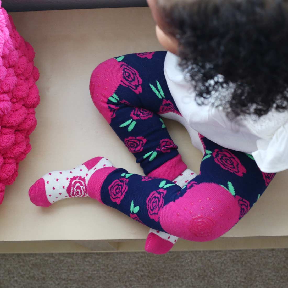 Fun Colorful Characters 6-18 Months ZOOCCHINI Baby Non-Skid Comfort Crawler Leggings /& Socks Set