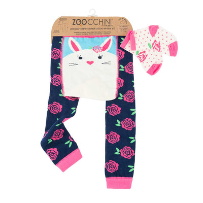 ZOOCCHINI grip+easy™ Comfort Crawler Legging & Socks Set - Beatrice the Bunny