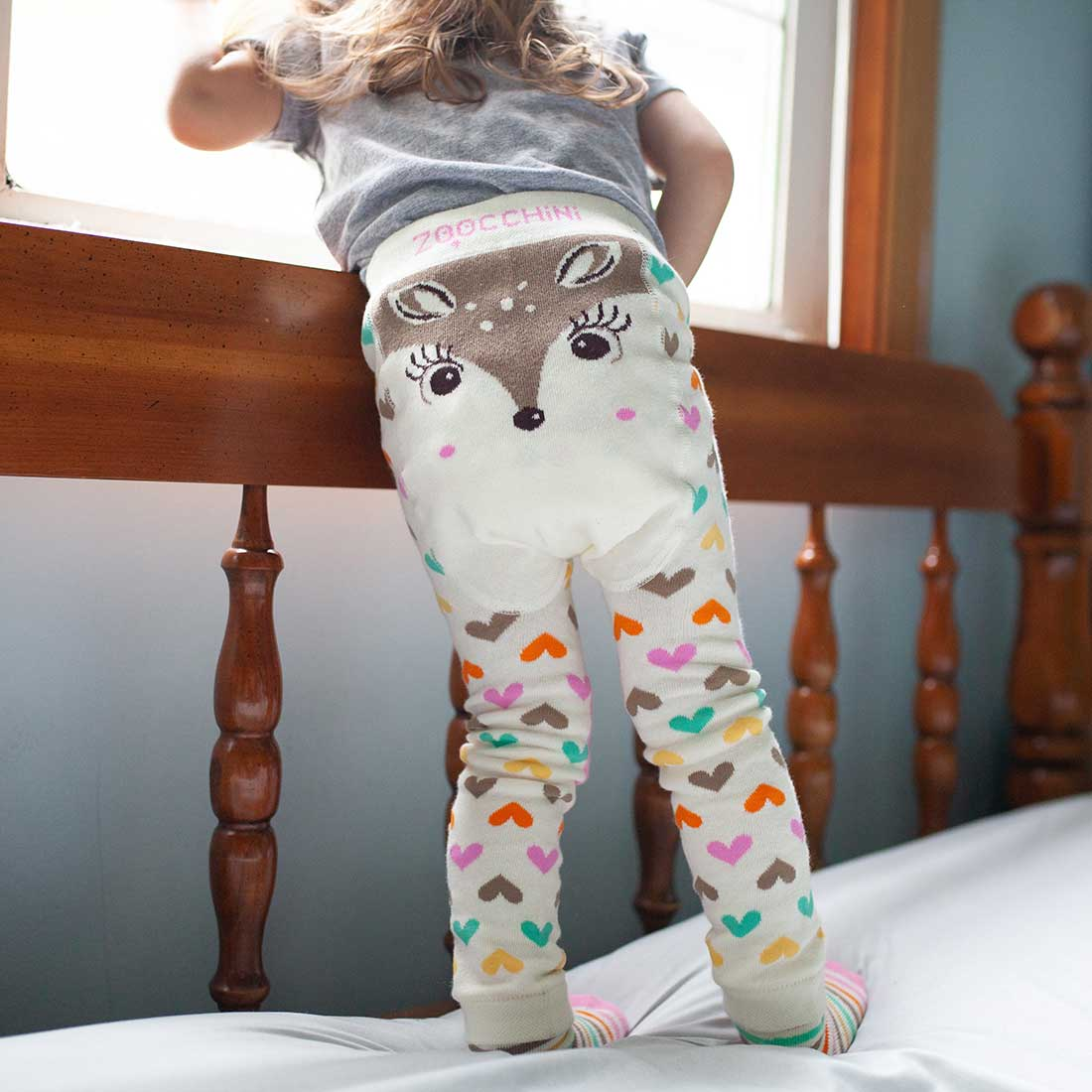 ZOOCCHINI grip+easy™ Comfort Crawler Legging & Socks Set - Fiona the Fawn