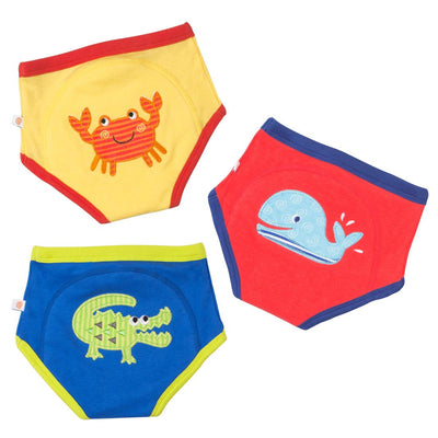 ZOOCCHINI Boys 3 Piece Organic Potty Training Pants Set - Ocean Friends-3