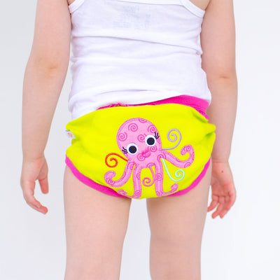 ZOOCCHINI Girls 3 Piece Organic Potty Training Pants Set - Ocean Friends-3