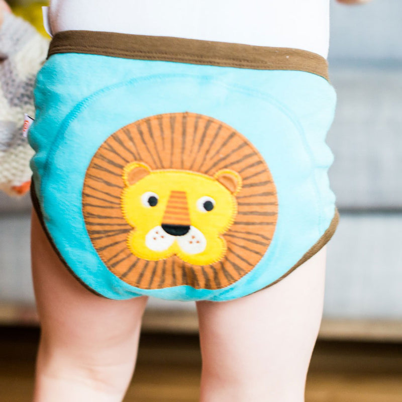 ZOOCCHINI Boys 3 Piece Organic Potty Training Pants Set - Safari Friends-1