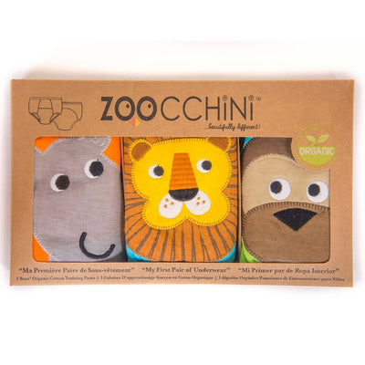 ZOOCCHINI Boys 3 Piece Organic Potty Training Pants Set - Safari Friends-4