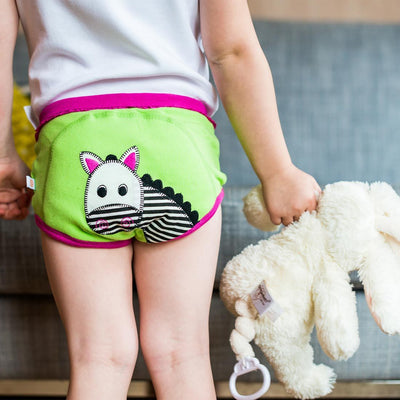 ZOOCCHINI Girls 3 Piece Organic Potty Training Pants Set - Safari Friends-1