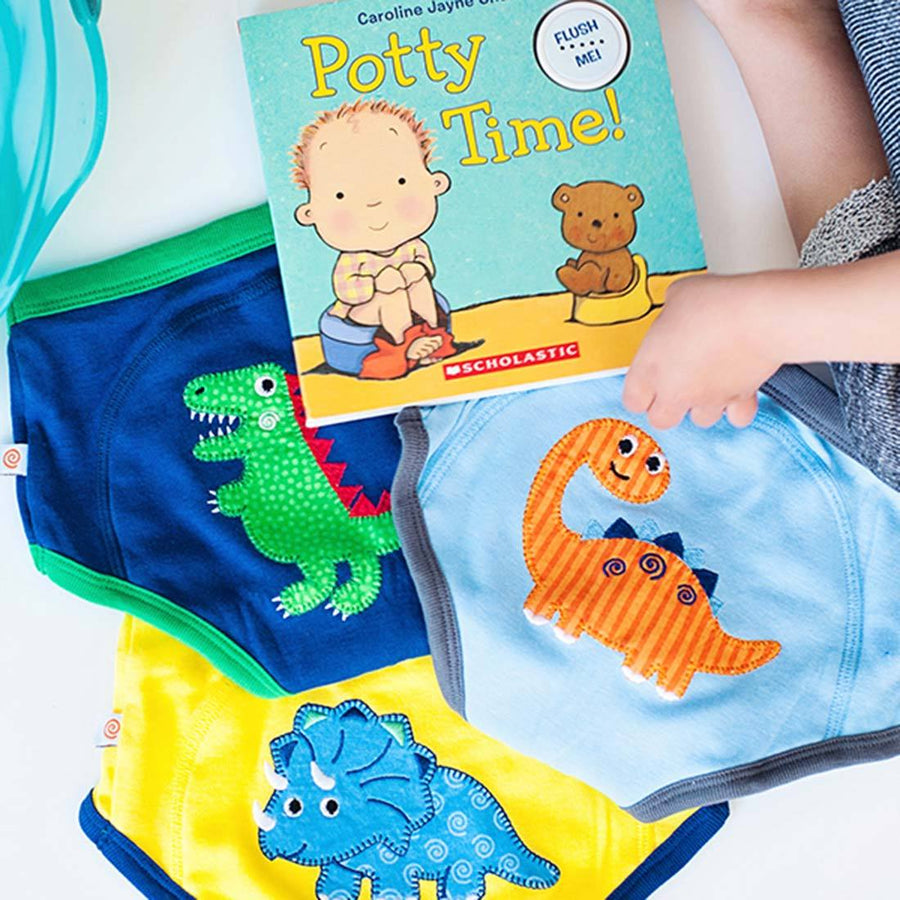 ZOOCCHINI Boys 3 Piece Organic Potty Training Pants Set - Jurassic Pals
