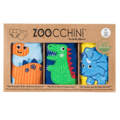 ZOOCCHINI Boys 3 Piece Organic Potty Training Pants Set - Jurassic Pals-4