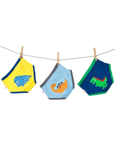 ZOOCCHINI Boys 3 Piece Organic Potty Training Pants Set - Jurassic Pals-3