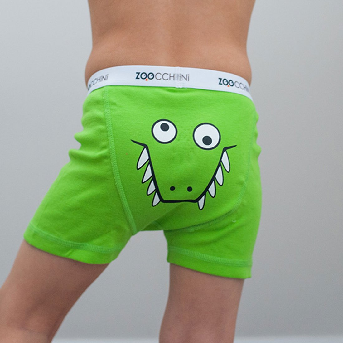 3 Pack Zoocchini Organic Boys Boxers Chompy Chompers