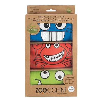 ZOOCCHINI Boys 3 Piece Organic Boxers Set - Chompy Chompers-4