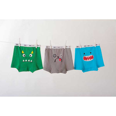 ZOOCCHINI Boys 3 Piece Organic Boxers Set - Monster Mash-3