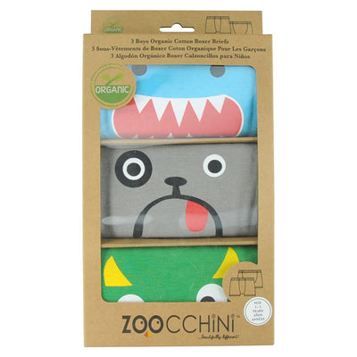 ZOOCCHINI Boys 3 Piece Organic Boxers Set - Monster Mash-4