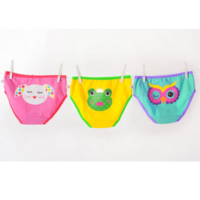 ZOOCCHINI Girls 3 Piece Organic Panty Set - Calypso Multi-3