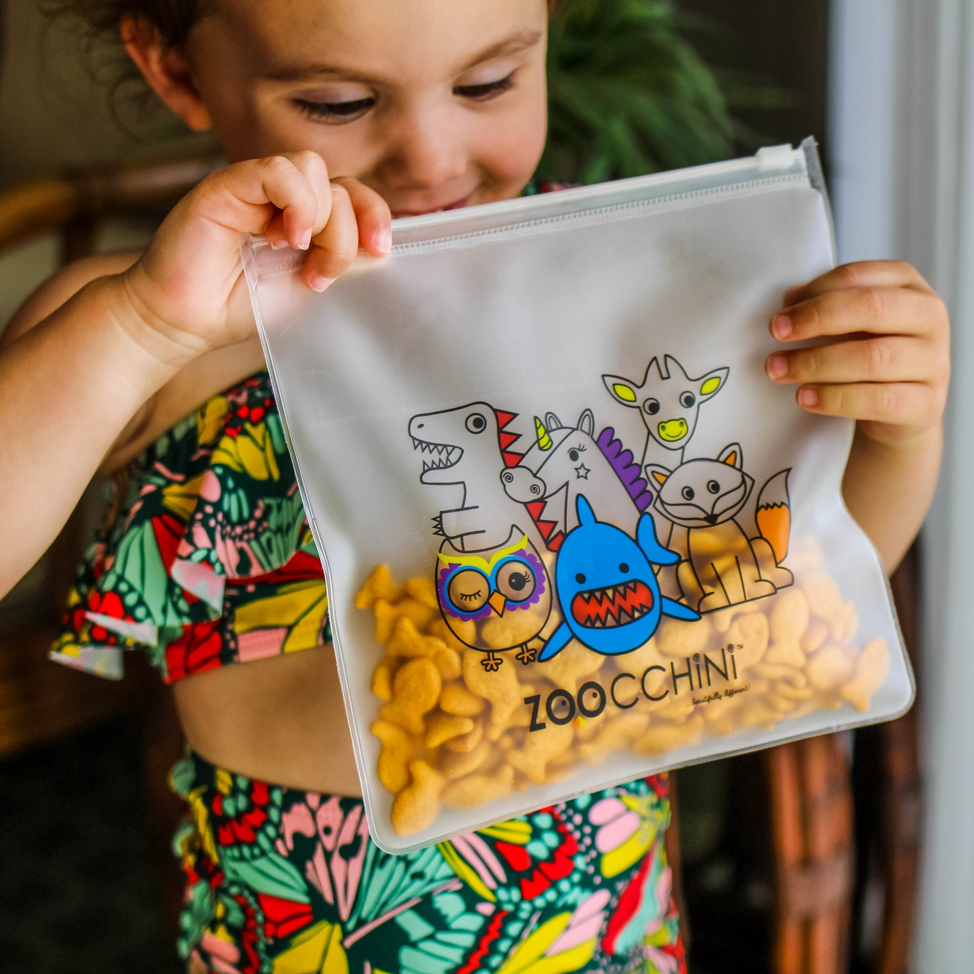 ZOOCCHINI Reusable Kids Snack Bags - Zoo All-Star