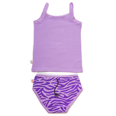 ZOOCCHINI Girls 2 Piece Organic Cami/Panty Set - Ziggy the Zebra-3