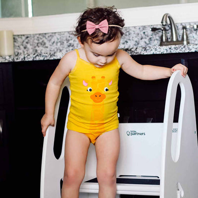 ZOOCCHINI Girls 2 Piece Organic Cami/Panty Set - Jaime the Giraffe