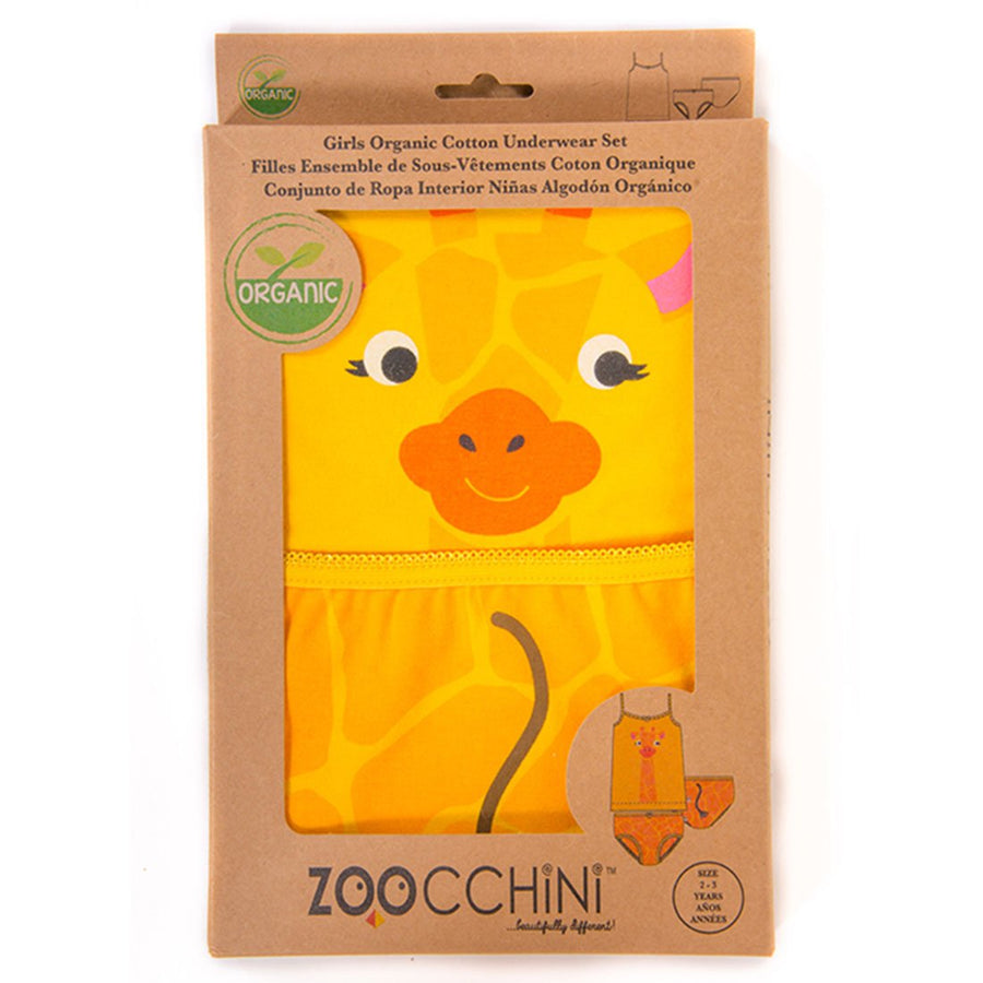 ZOOCCHINI Girls 2 Piece Organic Cami/Panty Set - Jaime the Giraffe-1