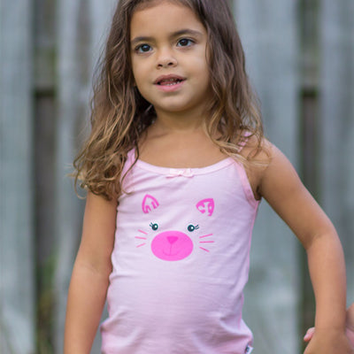 ZOOCCHINI Girls 2 Piece Organic Cami/Panty Set - Kallie the Kitten-1