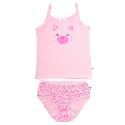 ZOOCCHINI Girls 2 Piece Organic Cami/Panty Set - Kallie the Kitten-2