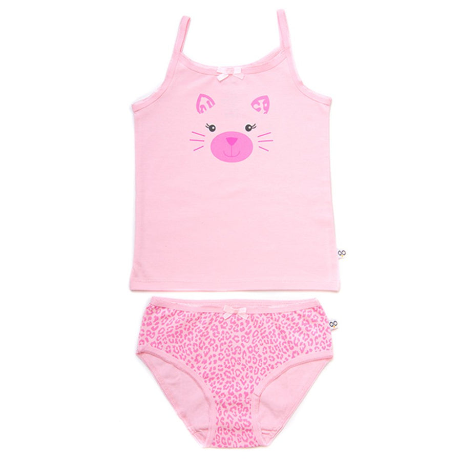 ZOOCCHINI Girls 2 Piece Organic Cami/Panty Set - Kallie the Kitten