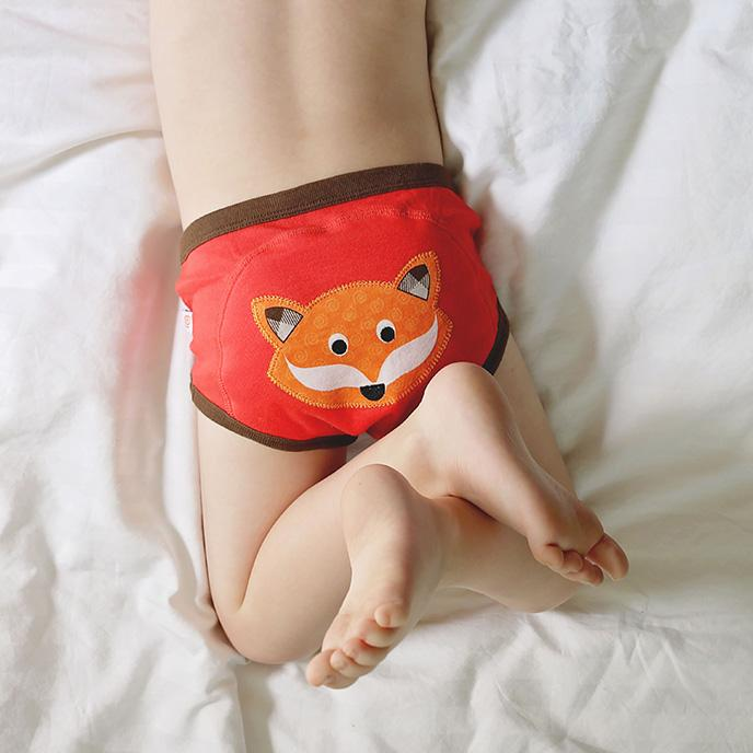 ZOOCCHINI 1 Piece Organic Potty Training Pant - Finley the Fox