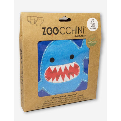 ZOOCCHINI 1 Piece Organic Potty Training Pant - Sherman the Shark-2