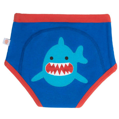 ZOOCCHINI 1 Piece Organic Potty Training Pant - Sherman the Shark-1