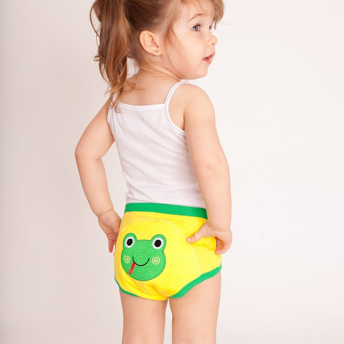 ZOOCCHINI 1 Piece Organic Potty Training Pant - Flippy the Frog