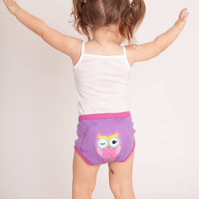 ZOOCCHINI 1 Piece Organic Potty Training Pant - Olive the Owl-1