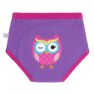 ZOOCCHINI 1 Piece Organic Potty Training Pant - Olive the Owl-2