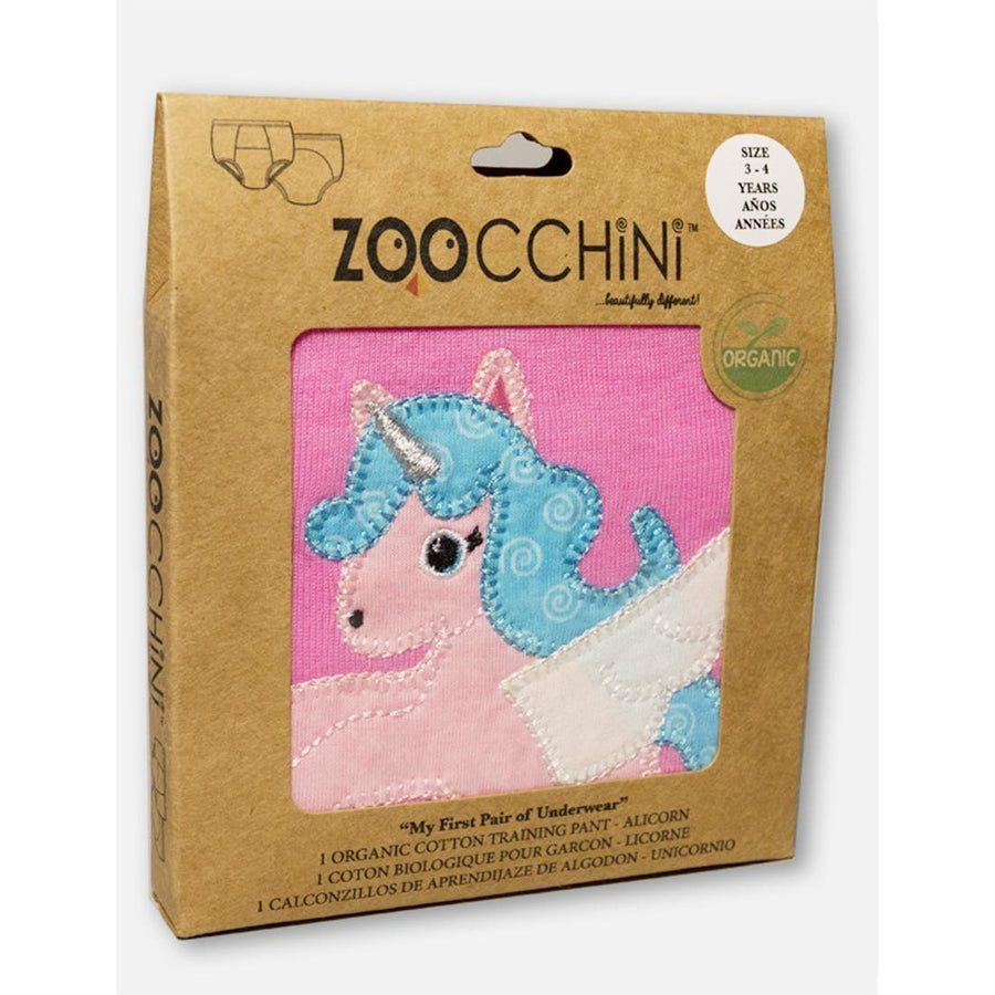 ZOOCCHINI 1 Piece Organic Potty Training Pant - Allie the Alicorn