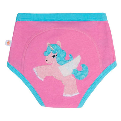 ZOOCCHINI 1 Piece Organic Potty Training Pant - Allie the Alicorn-2
