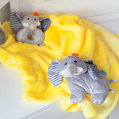 ZOOCCHINI Baby Buddy Stroller Blanket - Elle the Elephant-2