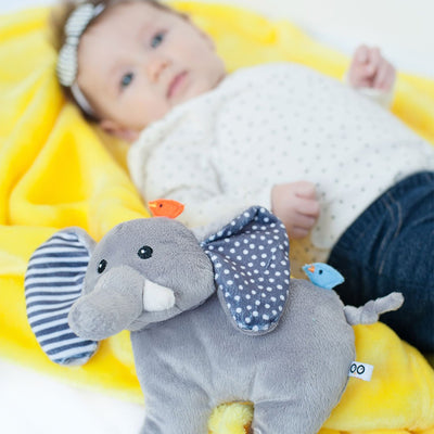 ZOOCCHINI Baby Buddy Stroller Blanket - Elle the Elephant-1