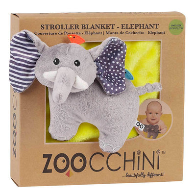 ZOOCCHINI Baby Buddy Stroller Blanket - Elle the Elephant-3