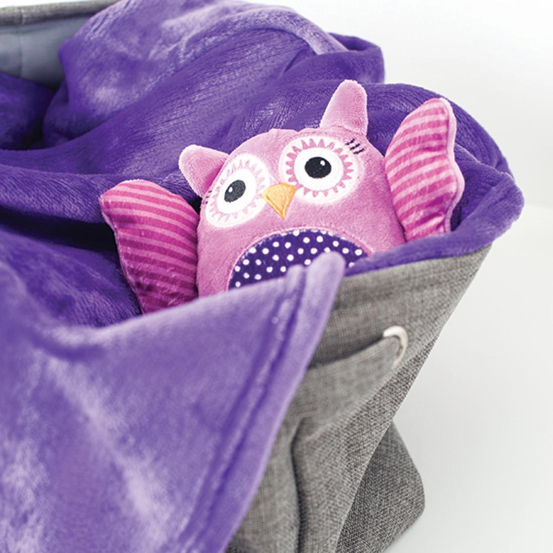 ZOOCCHINI Baby Buddy Stroller Blanket - Olive the Owl