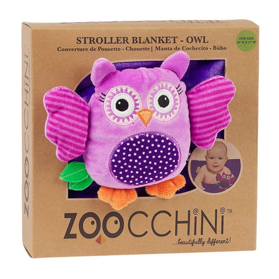 ZOOCCHINI Baby Buddy Stroller Blanket - Olive the Owl-3