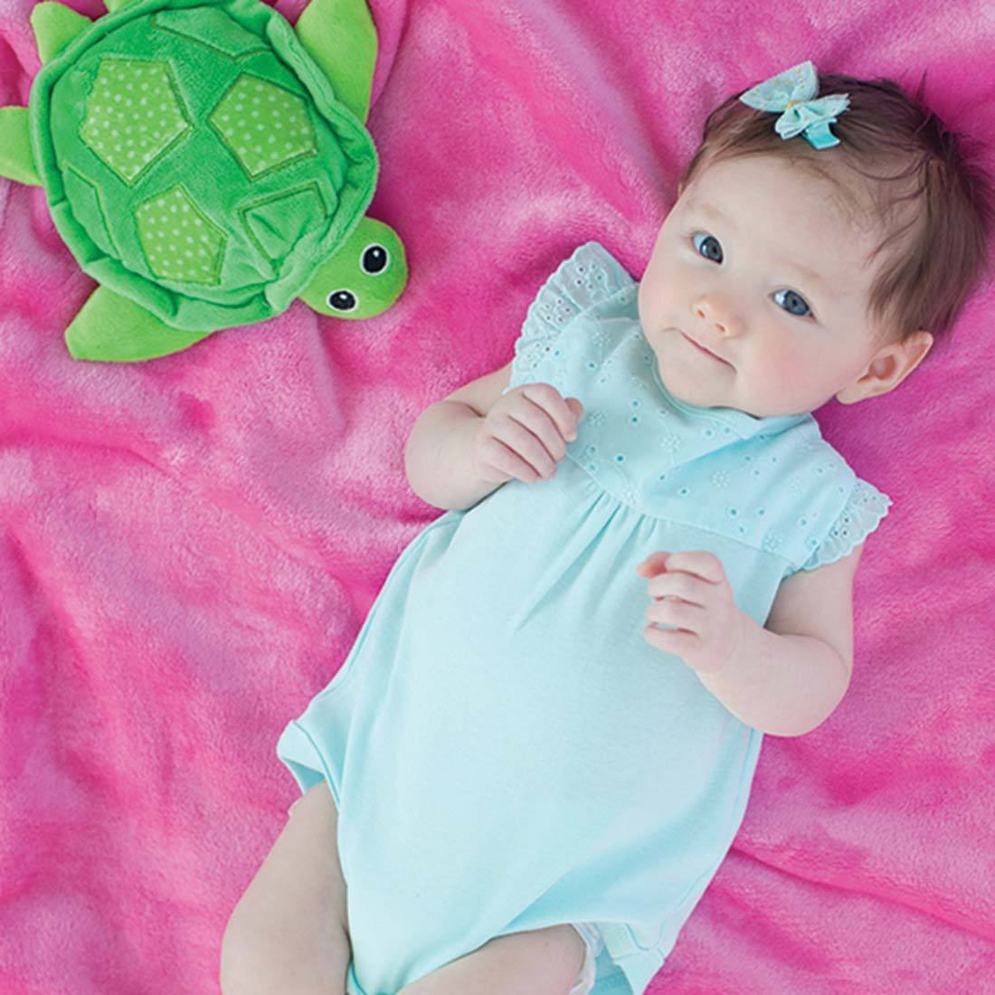 ZOOCCHINI Baby Buddy Stroller Blanket - Tammy the Turtle-1