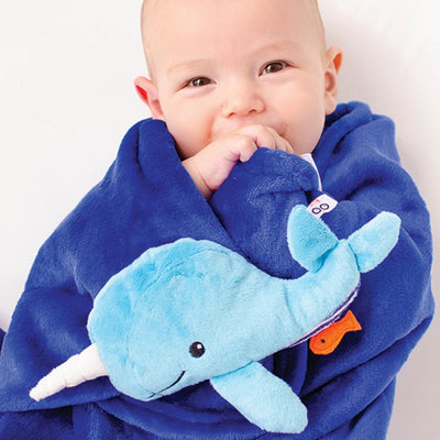ZOOCCHINI Baby Buddy Stroller Blanket - Willy the Whale-1