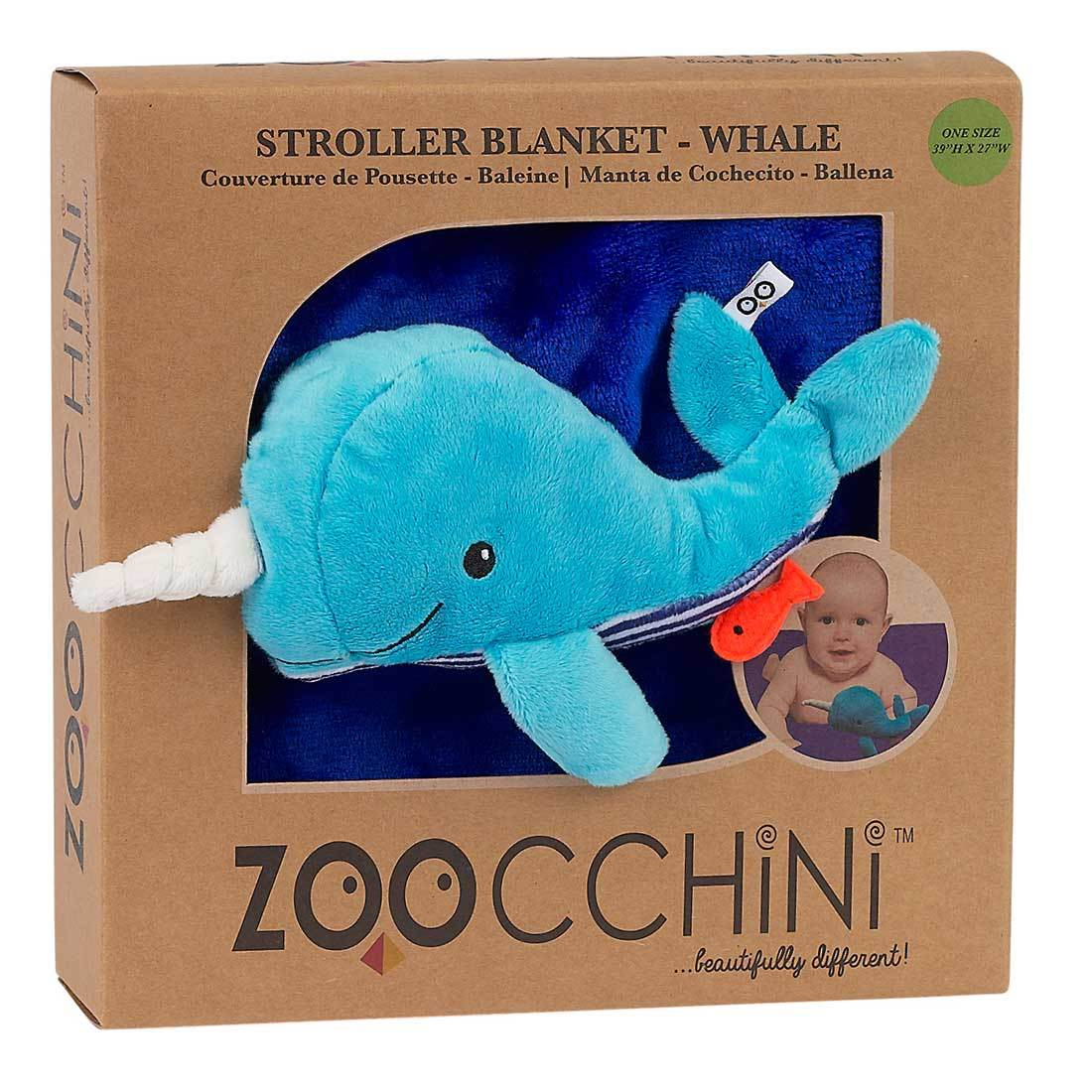 Zoocchini Baby Buddy Stroller Blanket Willy The Whale