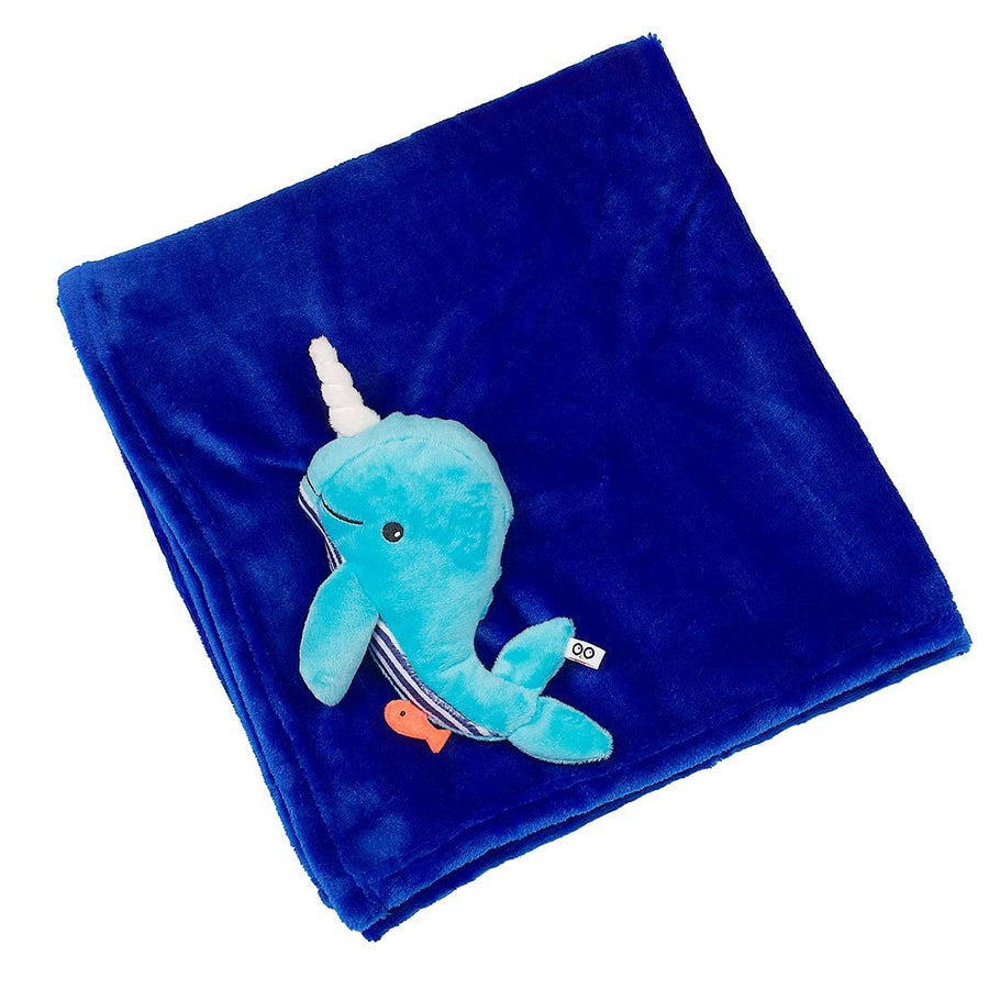 ZOOCCHINI Baby Buddy Stroller Blanket - Willy the Whale