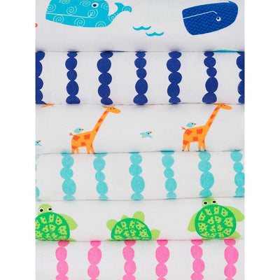 ZOOCCHINI 2 Pack 100% Cotton Candy Receiving Blankets - Willy the Whale-3