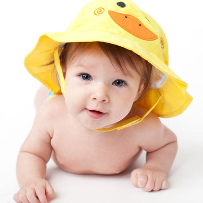 ZOOCCHINI UPF50+ Baby Sun Hat - Puddles the Duck-1