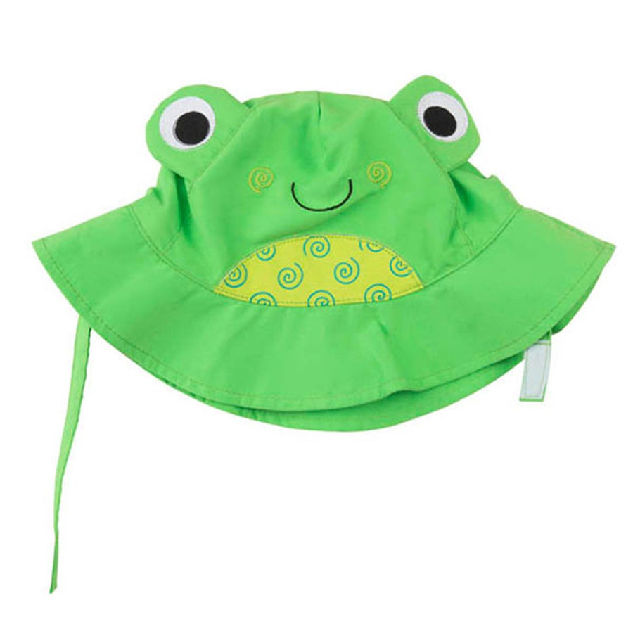 ZOOCCHINI UPF50+ Baby Sun Hat - Flippy the Frog-1