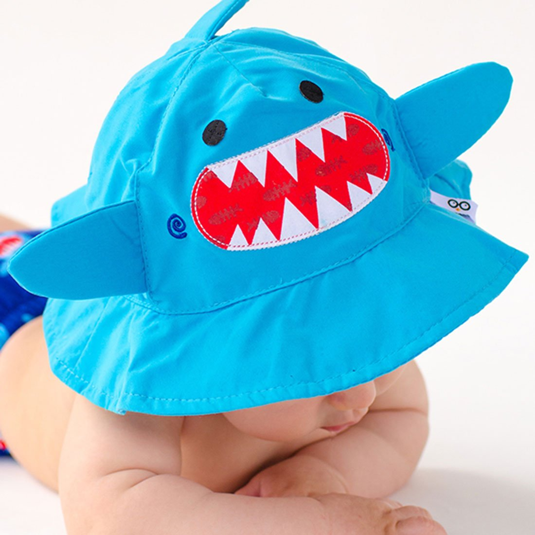 ZOOCCHINI UPF50+ Baby Sun Hat - Sherman the Shark-1