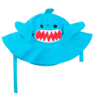 ZOOCCHINI UPF50+ Baby Sun Hat - Sherman the Shark-2