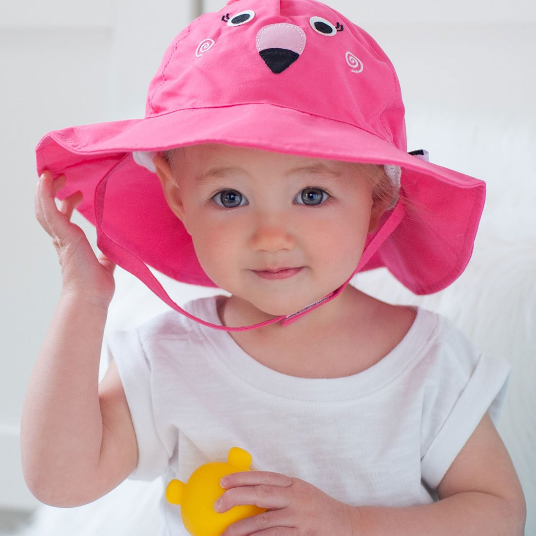 0a7aaf185dc ZOOCCHINI UPF50+ Baby Sun Hat - Franny the Flamingo