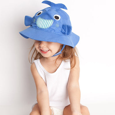 ZOOCCHINI UPF50+ Baby Sun Hat - Willy the Whale-1