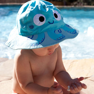 ZOOCCHINI UPF50+ Baby Sun Hat - Owie the Octopus-1