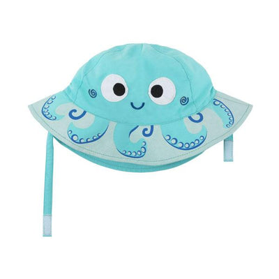 ZOOCCHINI UPF50+ Baby Sun Hat - Owie the Octopus-2